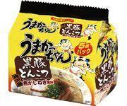 "House ""Umakacchan"", Kurume Tonkotsu Ramen, Pork Stock, 5 packs in 1 bag"