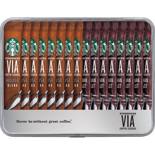"Starbucks Japan, Gift Assortment, ""VIA, House Blend & Italian Roast"" in a Can, 16 sticks"