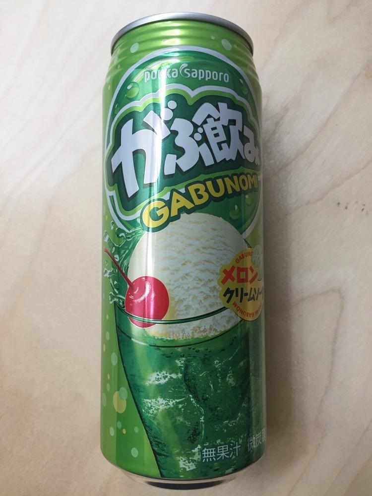 """Pokka Sapporo """"Gabunomi, Melon Cream Soda Flavor"""" 500ml, Alu can"""