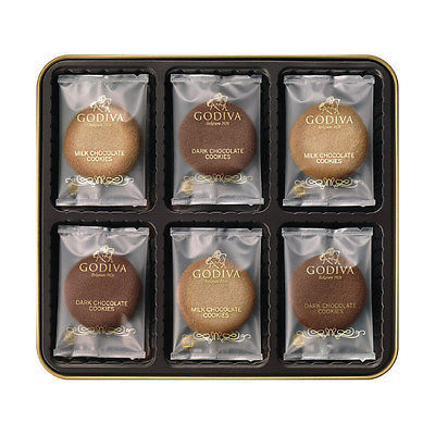 Godiva Japan, 2 Kinds Cookie Assortment, 18 pieces in a can, For Gift