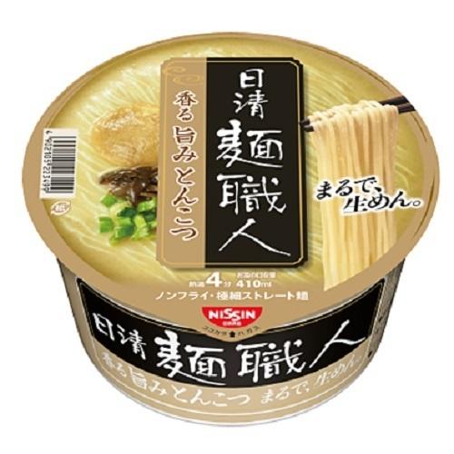 "Nissin ""Menshokunin, Tonkotsu flavor"" 1 pack, 82g,  3 Cups Set"