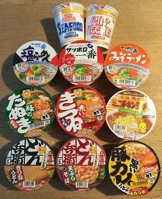 Japanese Instant Ramen, Soba, Udon, Yakisoba, 11 Cups Set, Mini