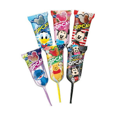 Glico, Popcan, Micky Shaped Lollipop, 6 flavors set