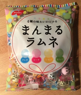 Nobel, Manmaru Ramune, 4 kinds Ramune Sugar Candy
