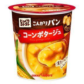 Pokka, Jikkuri Kotokoto, Kongari Pan, Corn Potage, Instant Soup