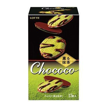Lotte, Chococo, Cookie Snadwich, Matcha flavor