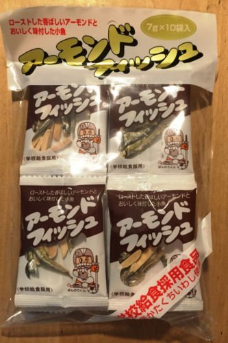 Dried Fish and Almond, Long-sellers Japan Snack, School Lunch, 7g x 10 packs