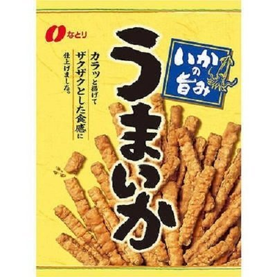 Natori, Umaika, Crispy Squid Snack, Stick Type, Strong Taste, 140g