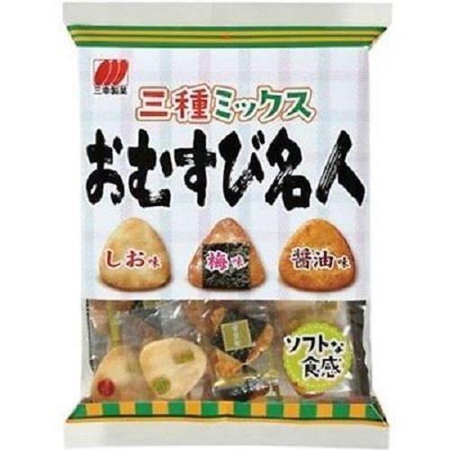 "Sanko, ""Omusubi Meijin"", 3 Kinds Assortment, Rice Cracker, 75g"