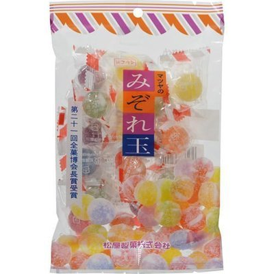 Matsuya, Mizoredama, Hard Candy, 6 kinds Flavor, Soda & Fruits, 160g
