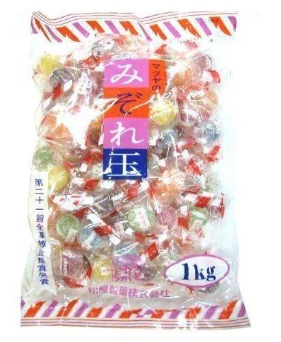 Matsuya, Mizoredama, Hard Candy, 6 kinds Flavor, Soda & Fruits, 1kg