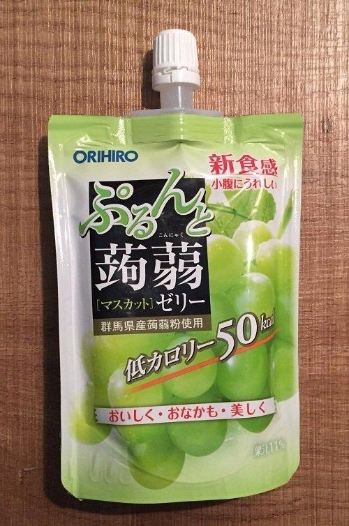"""Orihiro """"Purunto Konnyaku"""" Konjac Fruits Jelly Muscat 130g"""