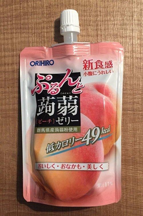 "Orihiro ""Purunto Konnyaku"" Konjac Fruits Jelly Peach 130g"