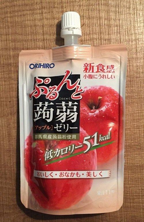 "Orihiro ""Purunto Konnyaku"" Konjac Fruits Jelly Apple 130g"