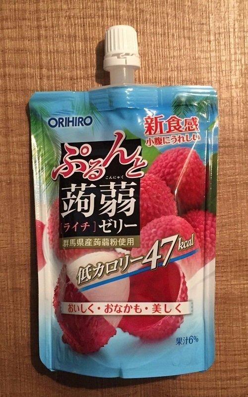 """Orihiro """"Purunto Konnyaku"""" Konjac Fruits Jelly Lychee 130g"""