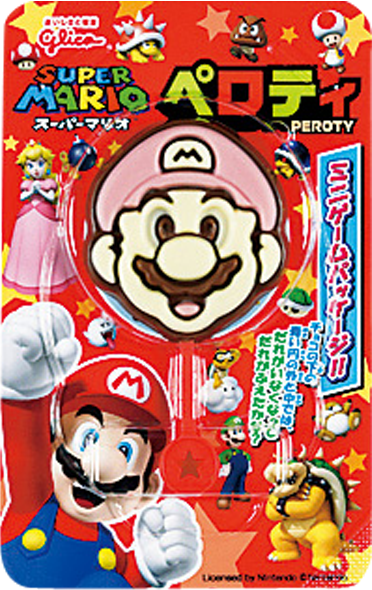 """Glico, """"PEROTY"""" Super Mario Shaped Chocolate, 20g in 1 pack"""