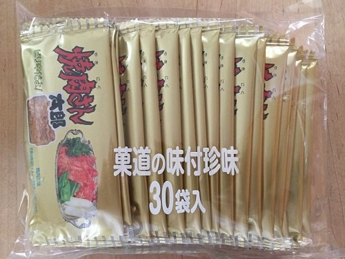 "Kado's ""Yakiniku san taro"", Seafood and squid snack, Yakiniku flavor 7g x 30 packs"
