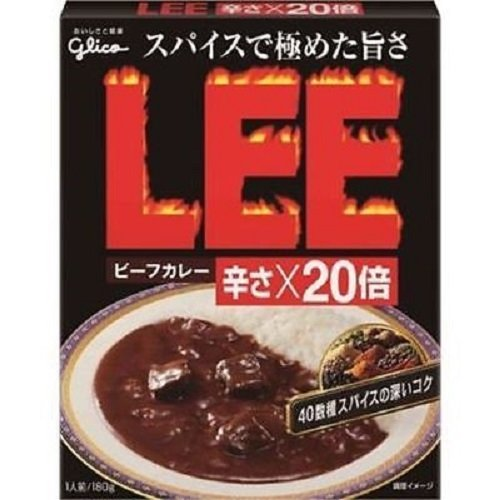 """Glico """"LEE Beef Curry"""" Extra Hot X20, Retort pack 200g"""