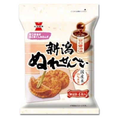 Iwatsuka, Rice Cracker, Niigata Nure Senbei, Nuresenbei, Soy sauce flavor Soft type, 4pc
