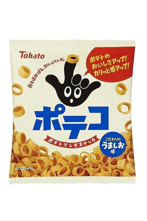 "Tohato, ""Poteko"", Ring-shaped Potato Snack, Salt flavor, 78g"
