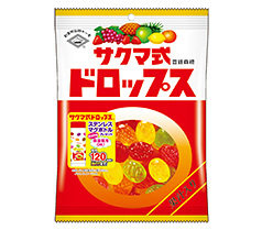 Sakuma, Sakumashiki Drops, Fruits Flavor Hard Candy, 8 kinds in 1 bag, 120g