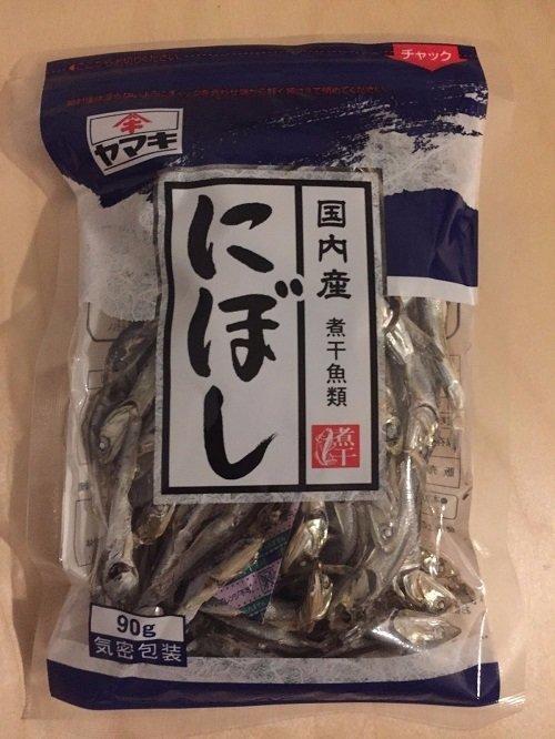 Yamaki, Dried Sardine for Fish Stock, Niboshi, 90g in 1 bag