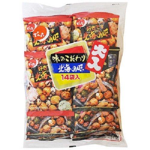 Denroku, Oiri Pair Pack, Aji no Kodawari & Hokkai no Aji, Assortment, 329g, 14 mini packs in 1 bag