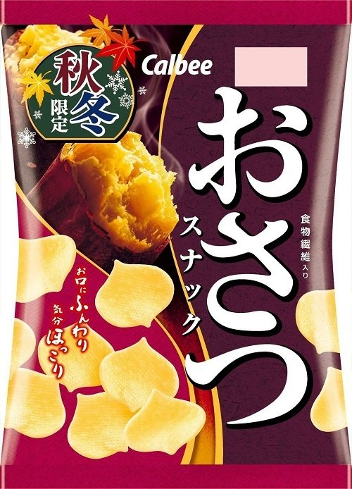 Calbee, Osatsu Snack, Sweet Potato Snack, 60g  in 1 bag
