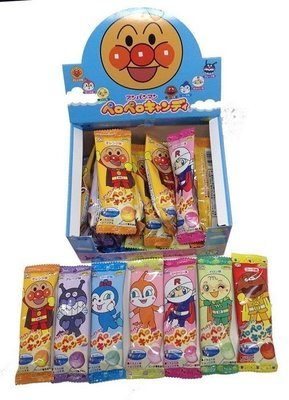 Fujiya, Hard Candy, Anpanman, Pero Pero Candy, 7 Flavors Lollipop 25 bars in 1 box