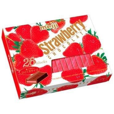 """Meiji """"Strawberry Chocolate"""" 26pc in 1 box, 120g"""