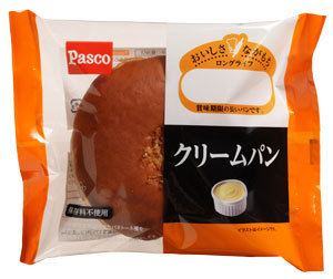 "Pasco ""Cream Pan"" Sweet Bread with Custard Cream, Long Life Series"
