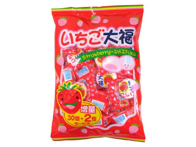 "Yaokin, ""Strawberry Daifuku, Marshmallow"" 30pc in 1 pack, 200g"