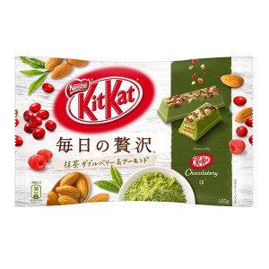 "Nestle ""Kit kat Mini, ""Mainichi no Zeitaku Matcha Cranberry"", 14 half mini bars"