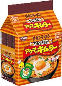 "Nissin ""Akuma no Kimuraa"" Spicy Chicken Ramen, Instant Noodles, 3 Servings"