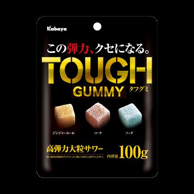 """Kabaya, """"Tough Gummy"""", Ginger Ale, Cola & Soda flavors in 1 bag, 100g"""