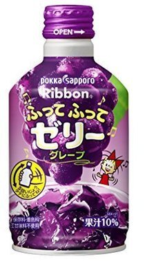 Pokka, Futte Futte Jelly, Grape Juice Drink with Jelly, 275g