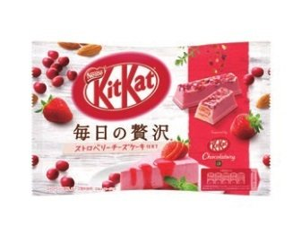"Nestle ""Kit kat Mini, ""Mainichi no Zeitaku Strawberry Cheese Cake"", half mini bars 109g"