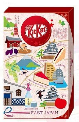 Japan Limited Kit Kat, Regional series, 6 kinds assortment, 12 mini bars, East Japan