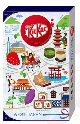 Japan Limited Kit Kat, Regional series, 6 kinds assortment, 12 mini bars, West Japan