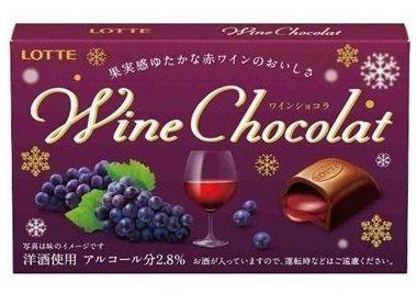 Lotte, Wine Chocolat, Red Wine Chocolate, 12pc in 1 box