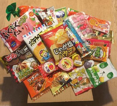 Japanese snack, Selected Dagashi Box, 23 pc set, Assortment, 380g