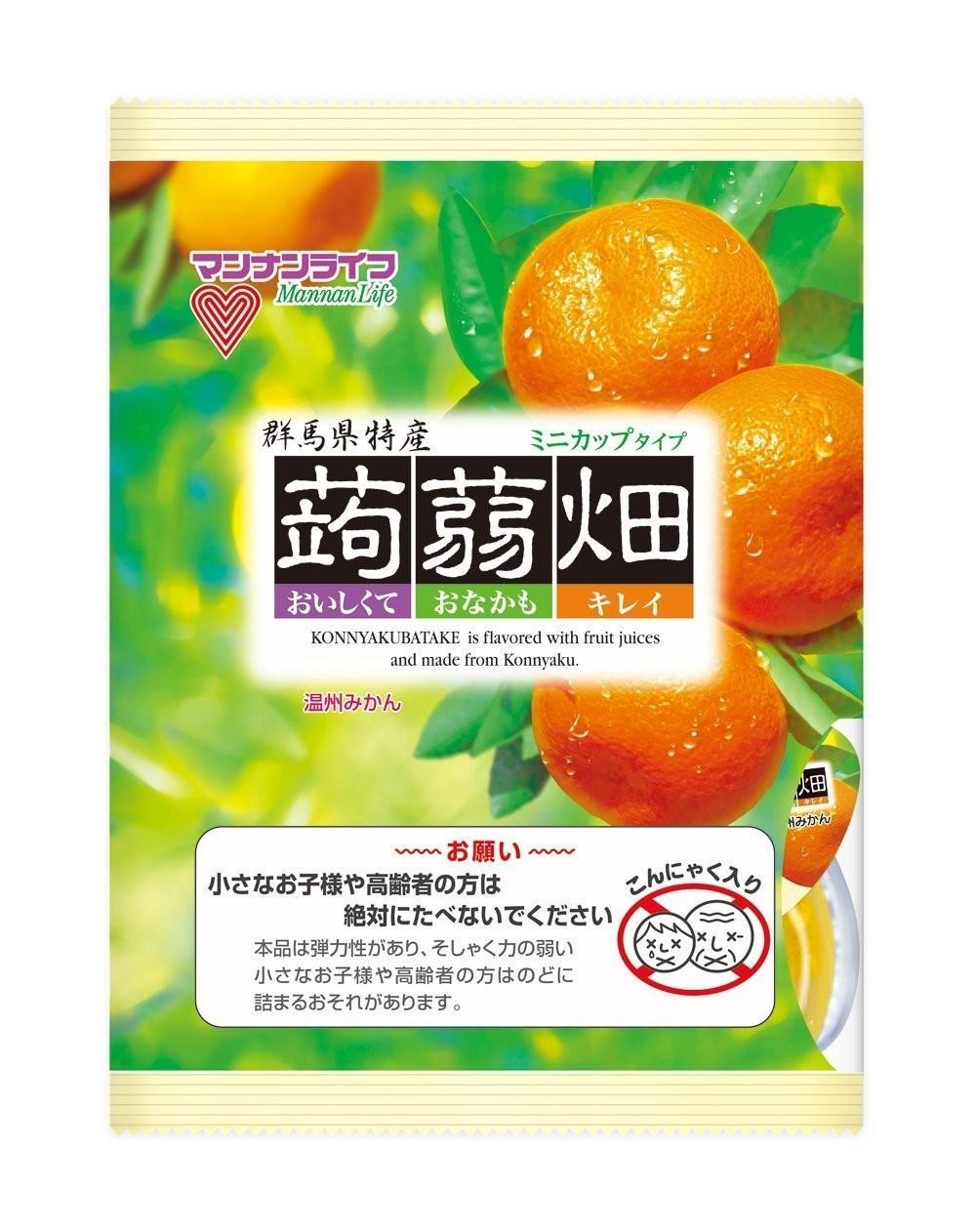 "Mannan Life ""Konnyaku Batake, Mandarin orange, mikan. flavor"" Konjac Fruits Jelly, 25g x 12 pc"