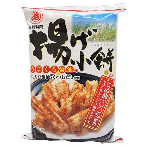 Echigo Seika, Agekomochi, Crispy Rice Cracker, Soy Sauce Flavor