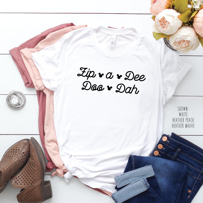 Zip A Dee Doo Dah Disney Shirt - Unisex Disney Shirt