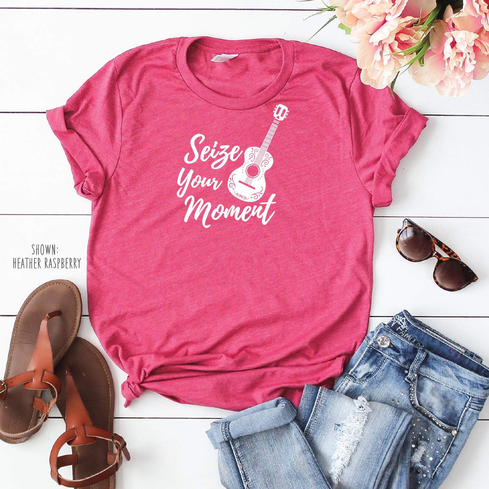 a2ed520257 Seize Your Moment - Disney/Pixar Coco Shirts for Men & Women - Disney/Pixar  Family Shirts - Disney Jersey Knit Shirt