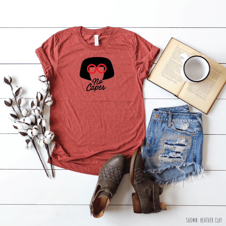 88e1387c4 Edna Mode No Capes - Disney Shirts for Men & Women - Disney Family Shirts -  Disney/Incredibles Jersey ...