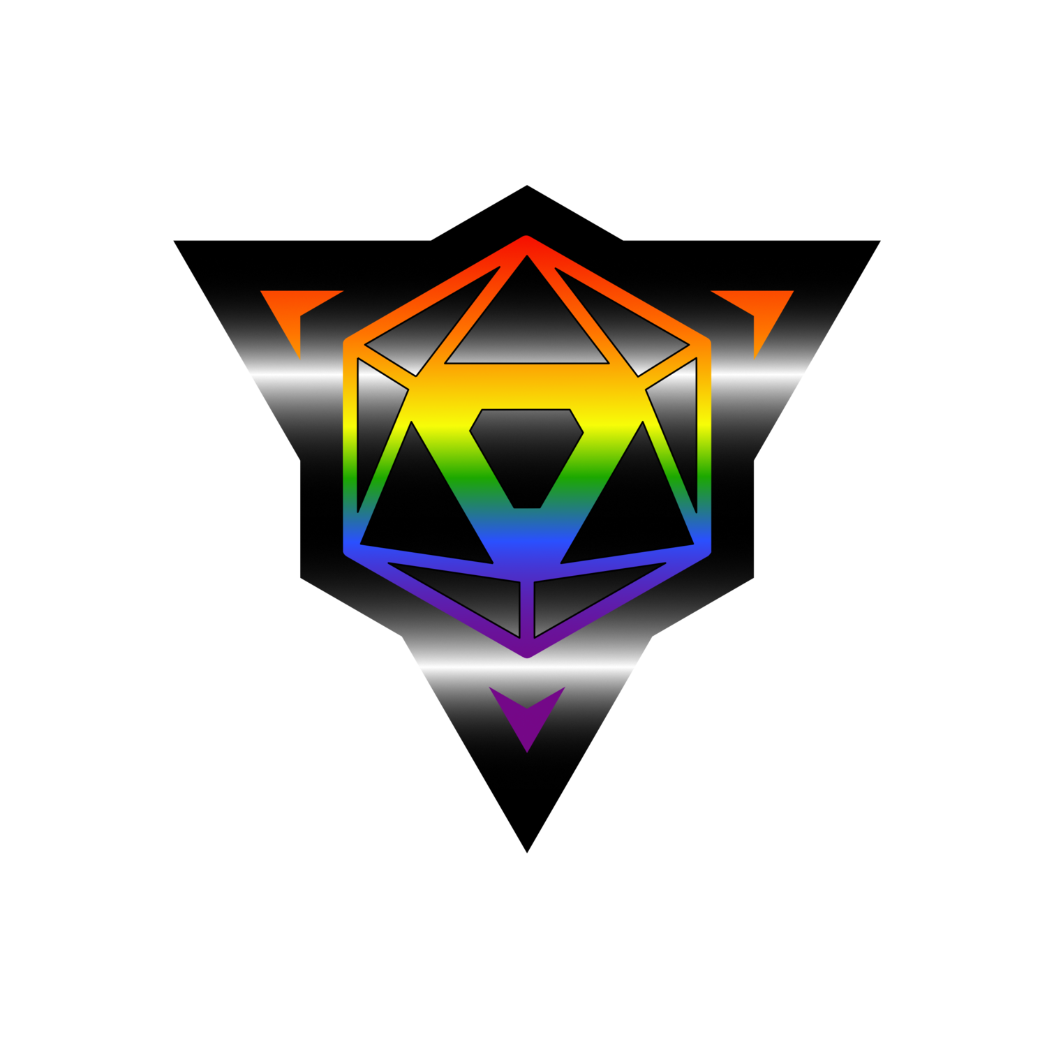 Die Hard Dice Pride Sticker - Ally Version 2