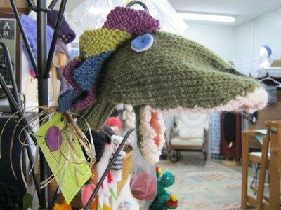 Hand Knit Hand Puppet - Dragon
