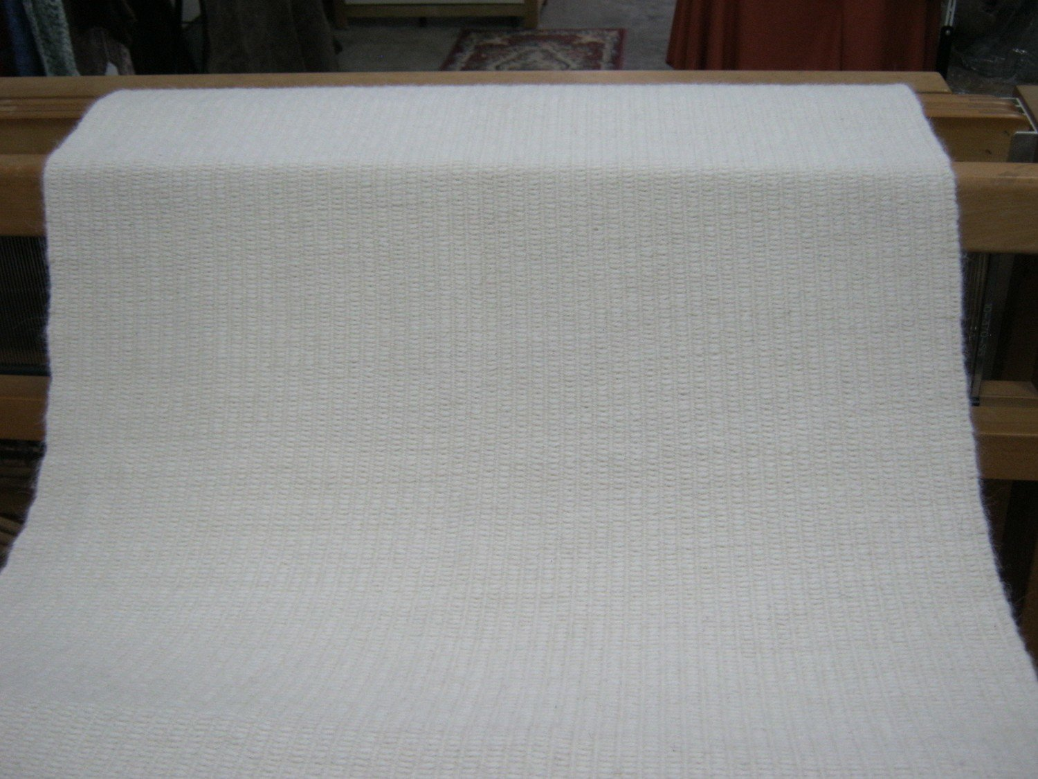 Hand woven Fabric, Natural White