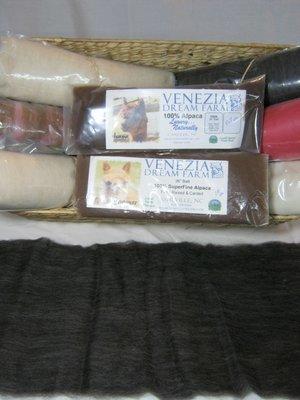 Batts - 2 oz, 100% alpaca, Natural Colors